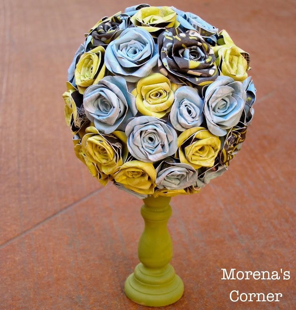 Paper Flower Topiary Morenas Corner