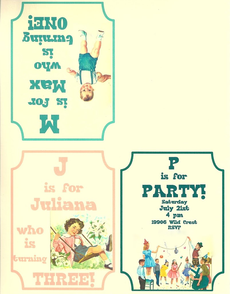 vintage themed birthday party printable and a guest post invitation