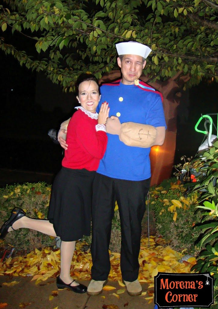 DIY Couples Costume  Popeye and Olive Oyl  and Swee    Pea  too  Olive Oyl And Popeye