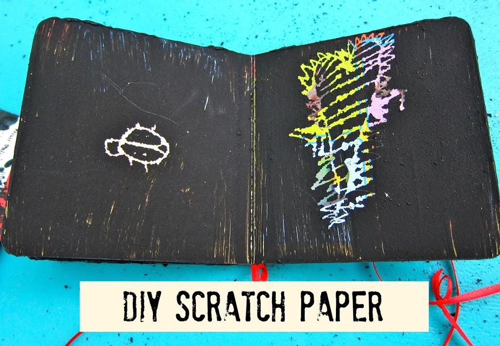 How To Make A Book Cover From Scratch ~ Diy scratch paper from recycled books morena s corner