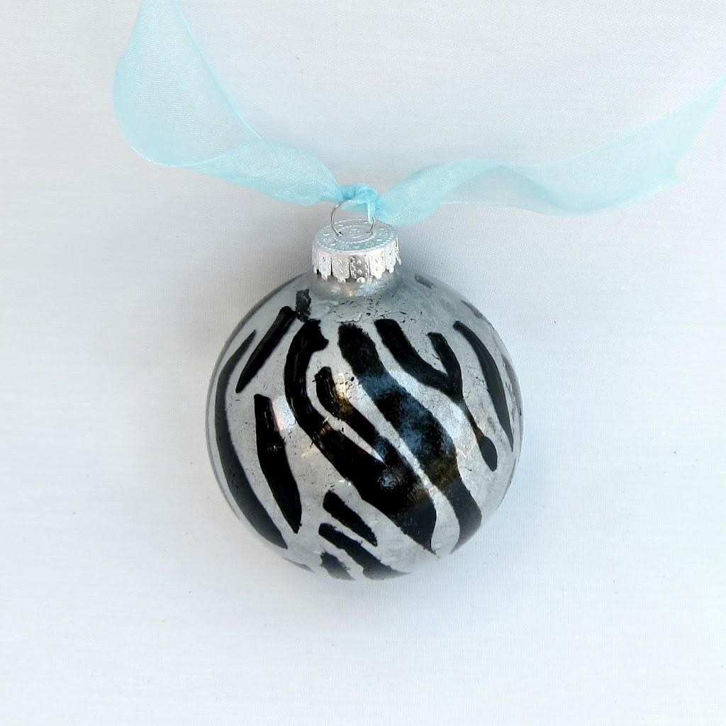 zebra-print-ornament