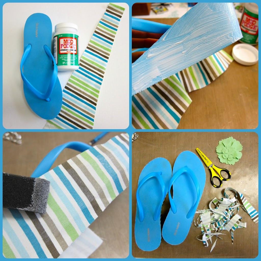 88923d91e480b Flip flop makeover with fabric and mod podge morenas corner jpg 1024x1024 Flip  flop makeovers