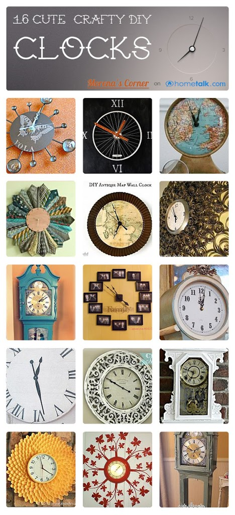 Creative diy clock ideas on hometalk morena 39 s corner for Whatever clock diy