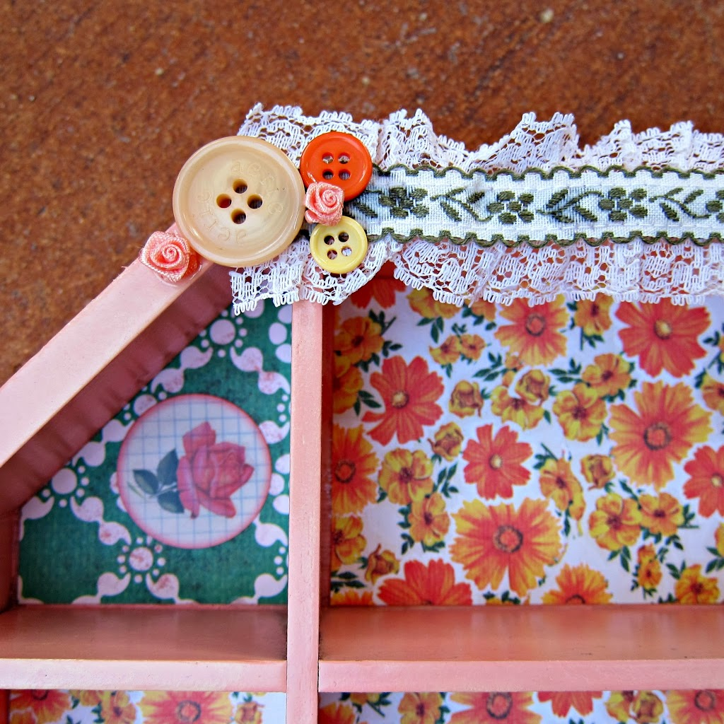 How to put scrapbook paper on wood - Wood Tray From Goodwill Glu6 Craft Paste Scrapbook Paper Embellishments