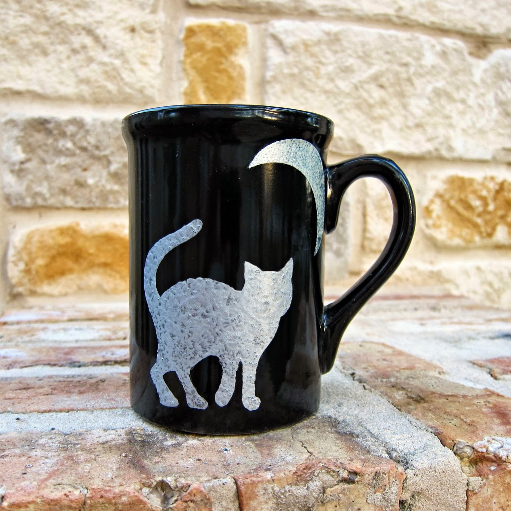 diy painted halloween mug - morena's corner