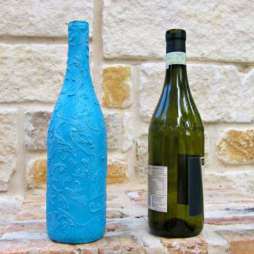 Faux ceramic decor diy morena 39 s corner for Wine bottle crafts for sale