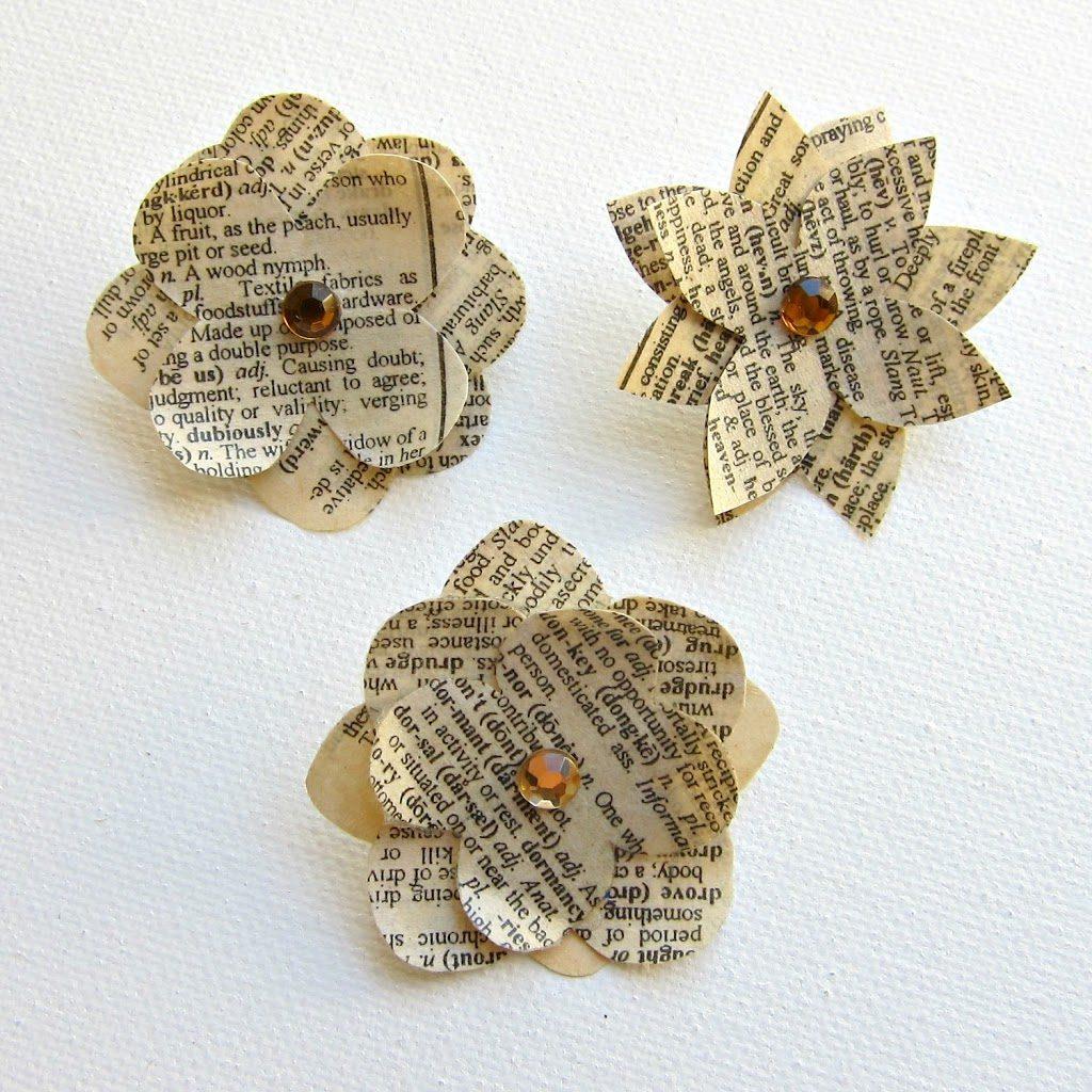 Diy Paper Flower Pins Morenas Corner