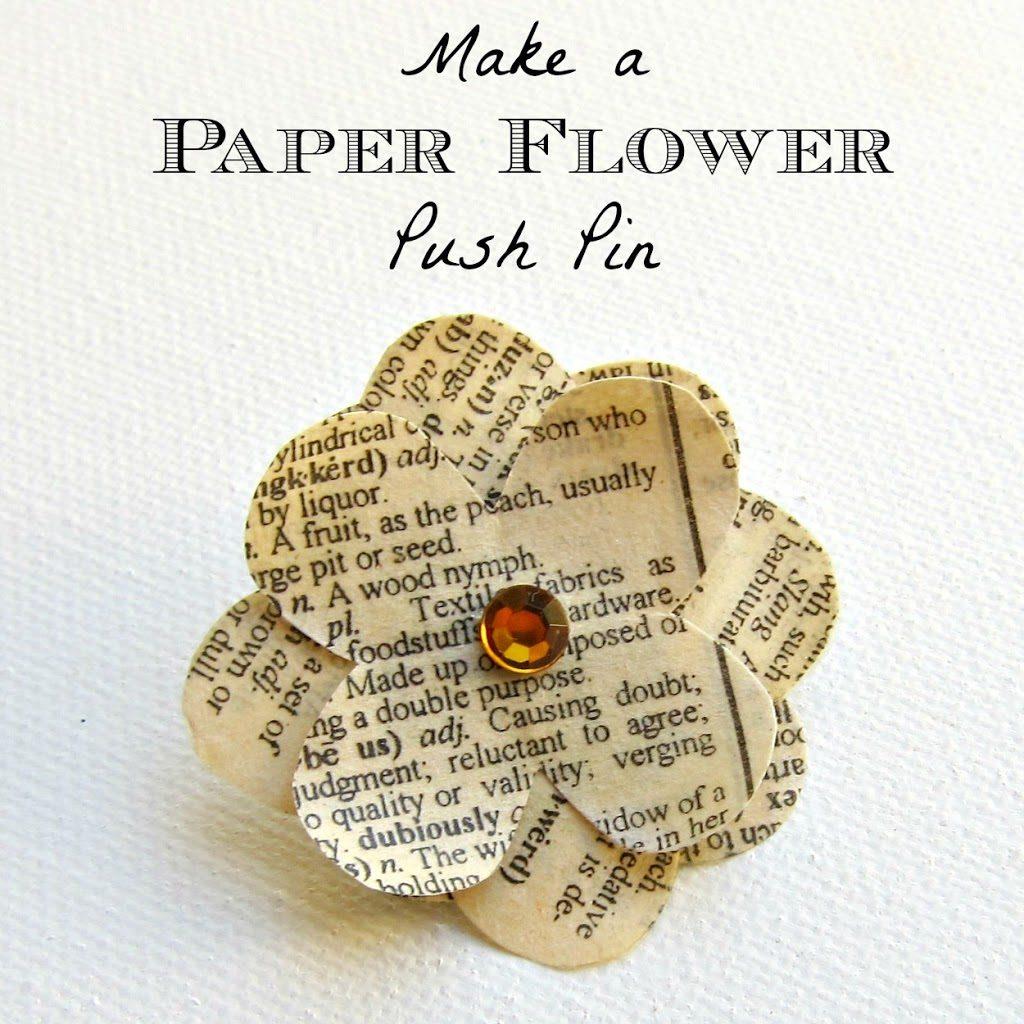 Make A Paper Flower Push Pin Morenas Corner