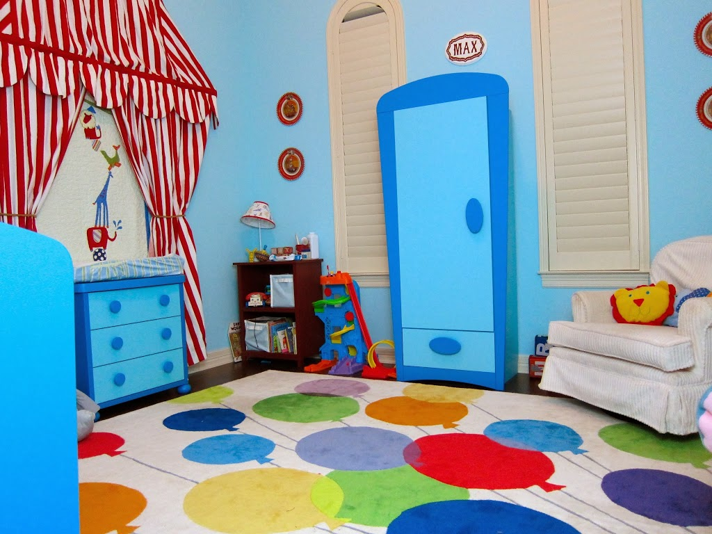 Nursery toddler room reveal circus themed child 39 s room for Circus themed bedroom ideas