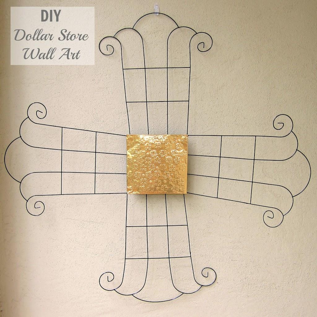 Diy Metal Wall Art From Dollar Tree Items Morena S Corner