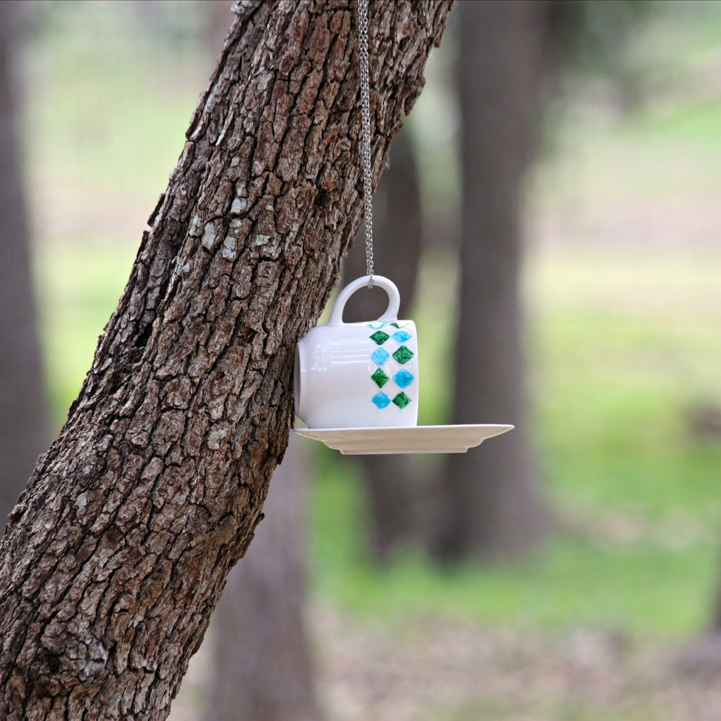 Make A Bird Feeder With Cups And Saucers From Goodwill Morena S Corner