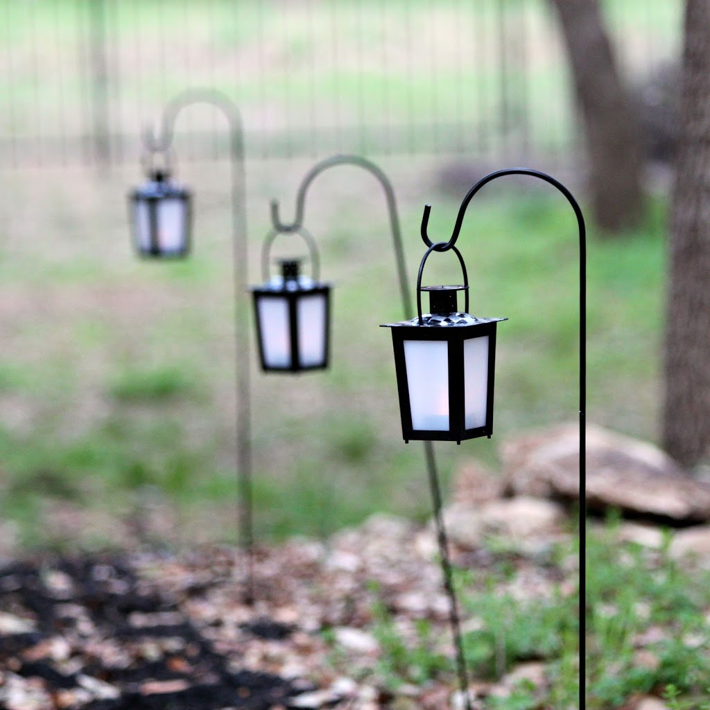 Outdoor Hanging Tree Lights: Make A Lit Garden Path With Dollar Store Items