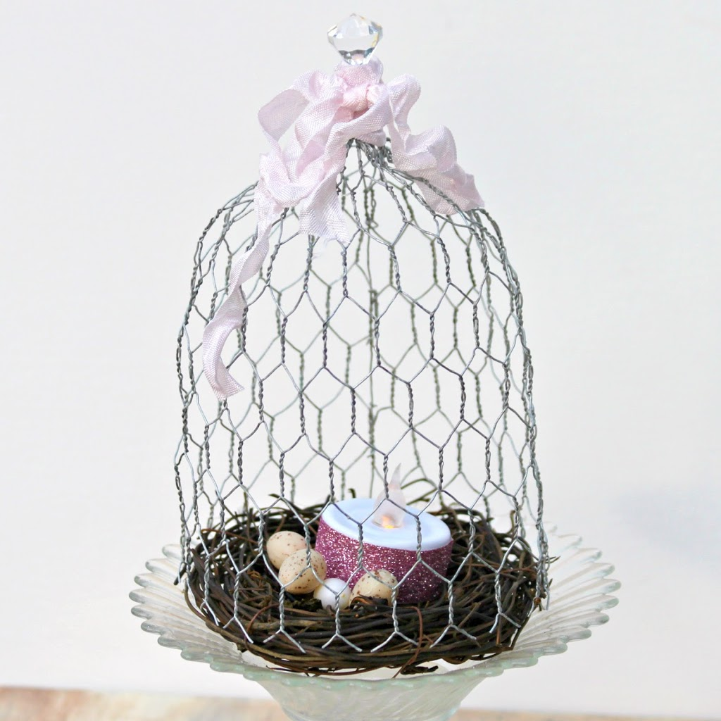 Chicken Wire Cloche DIY
