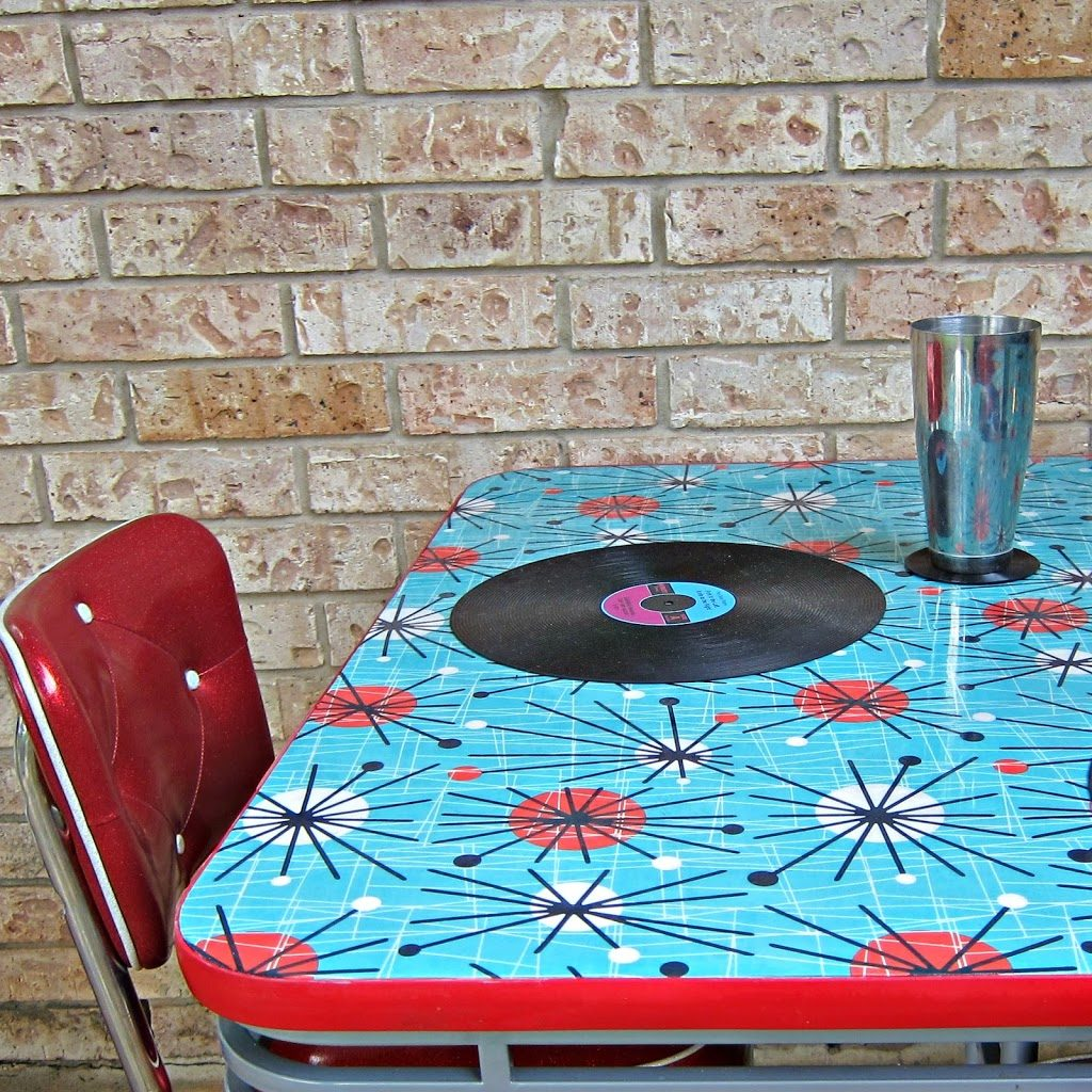 How To Refinish A Dining Table With Fabric Mod Podge And