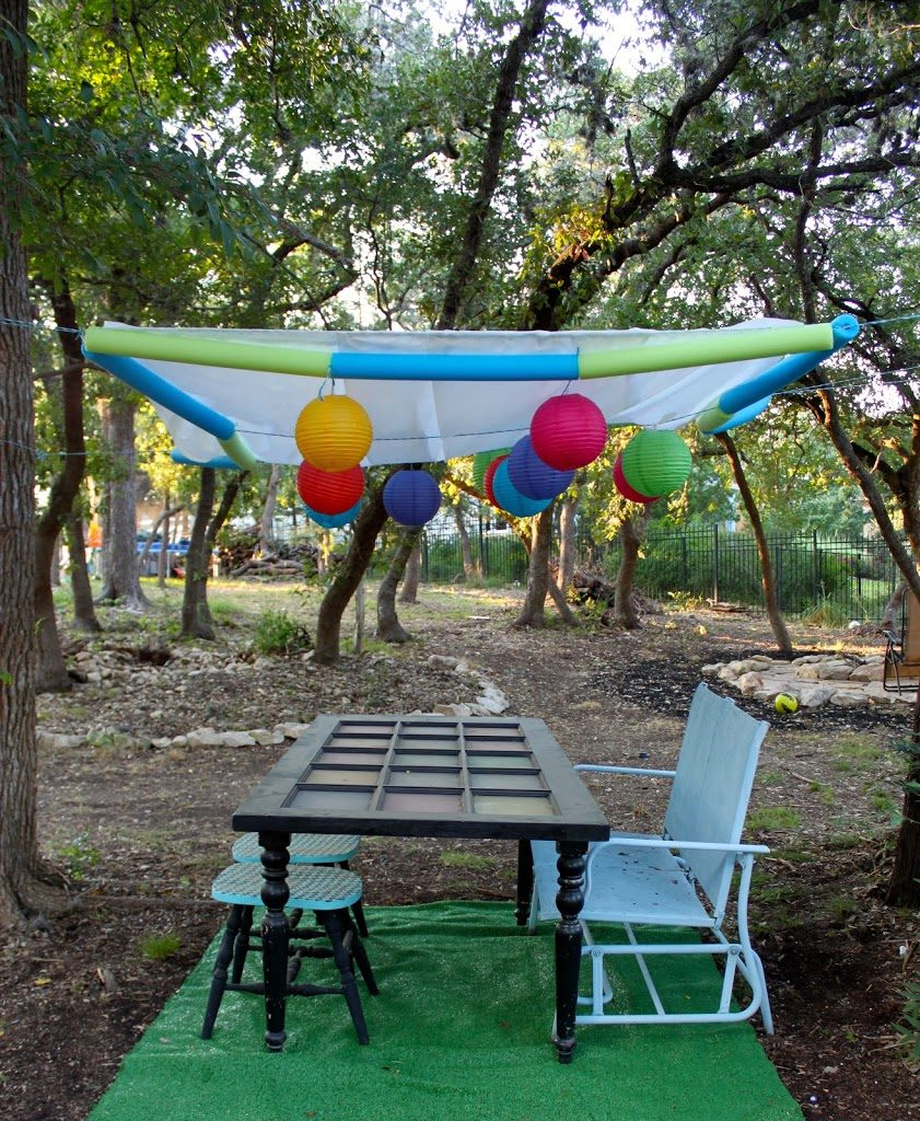 Diy Dollar Store Party Canopy Cover Morena S Corner