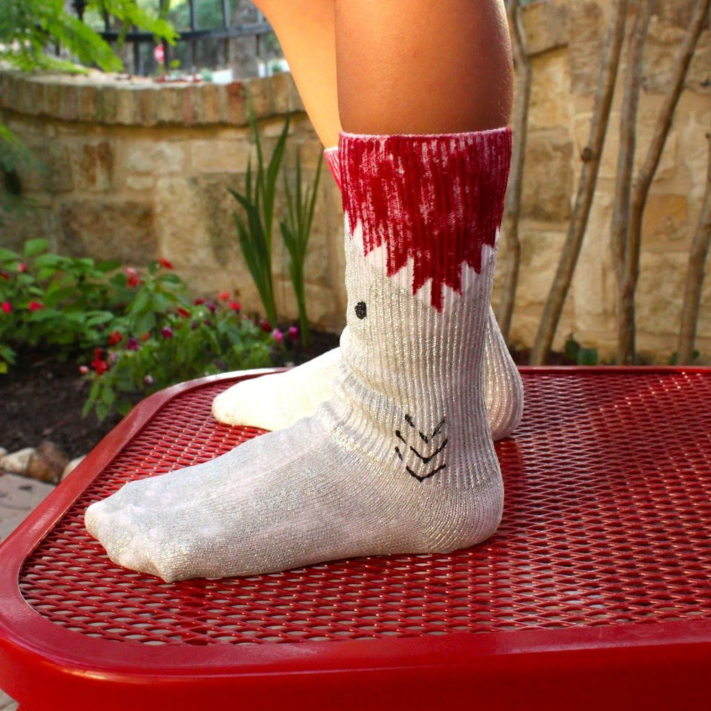 2020 Let S Glow Crazy Theme Kit: Paint Your Own Shark Socks