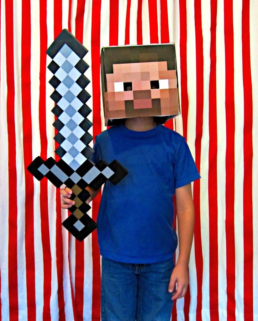 88 diy costumes including minecraft steve morena 39 s corner for Diy halloween costumes for kid boy