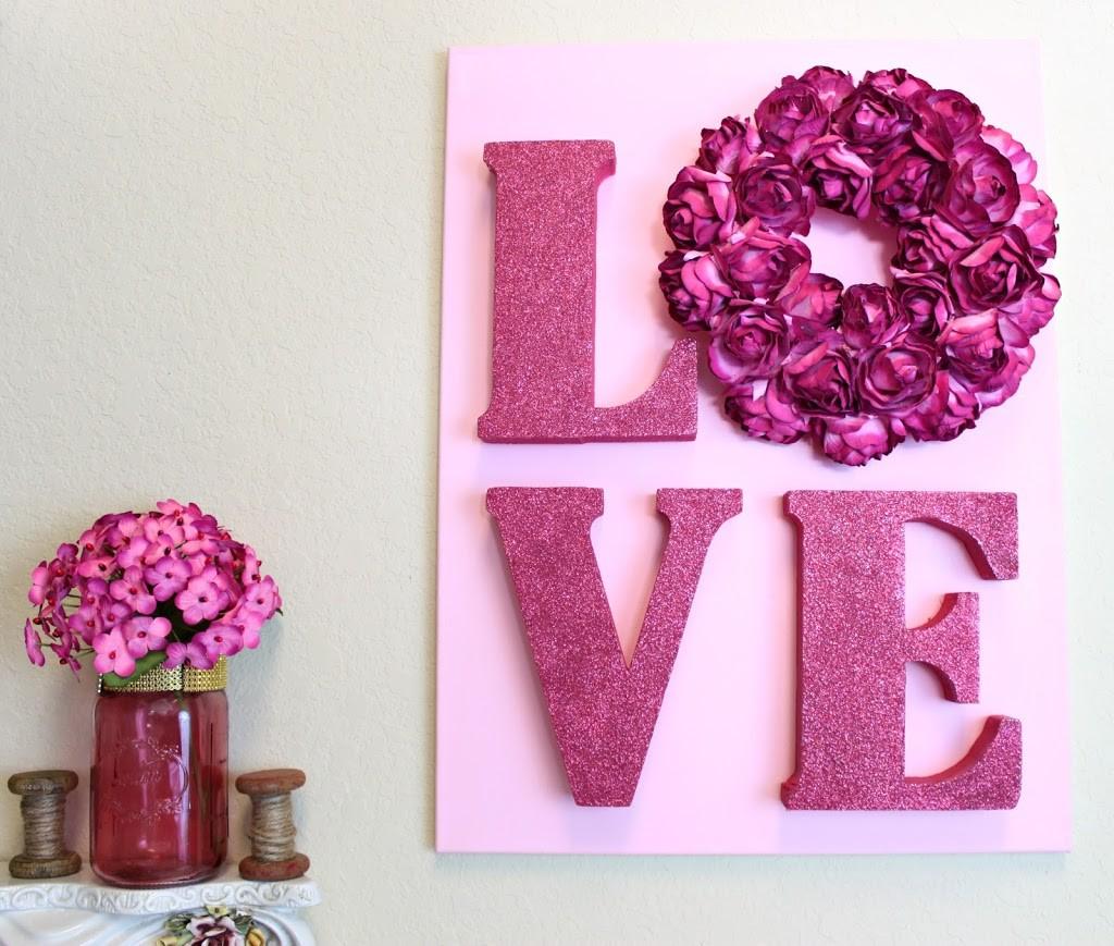 LOVE Letters Wall Art DIY for Valentine\u0027s Day - Morena\u0027s Corner