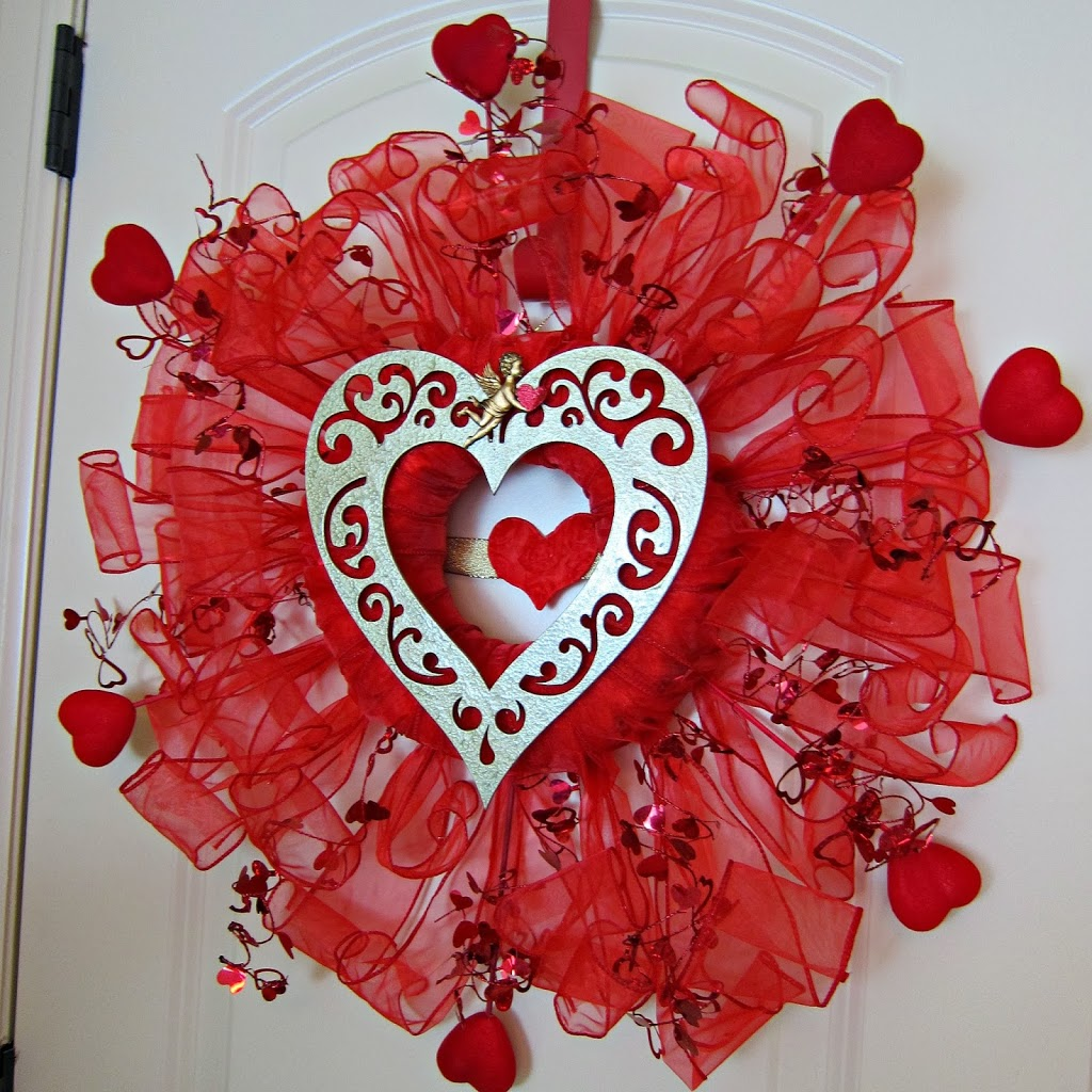 Valentine S Day Wreath Made With Dollar Store Items Morena S Corner