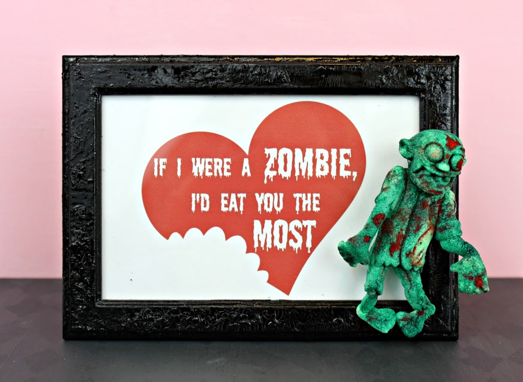 DIY Zombie Valentines   Free Printable Plus Craft Idea   Morenau0027s Corner