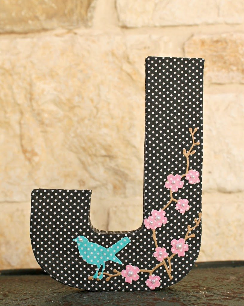Make a letter bookend to create custom home decor that is both functional and beautiful to look at.