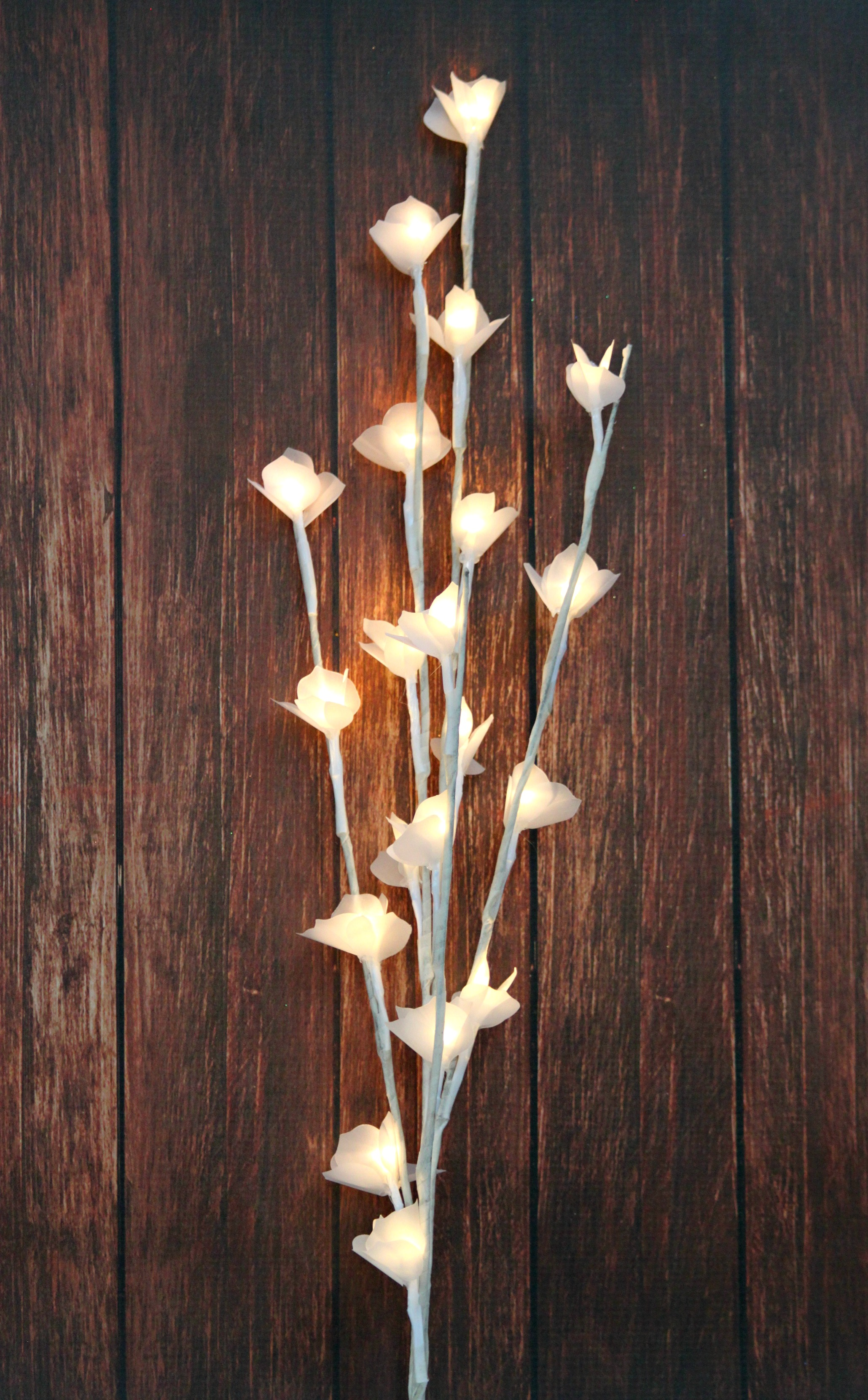 Make a lamp with vellum flowers morenas corner use vellum paper with dies to create a stunning lamp mightylinksfo