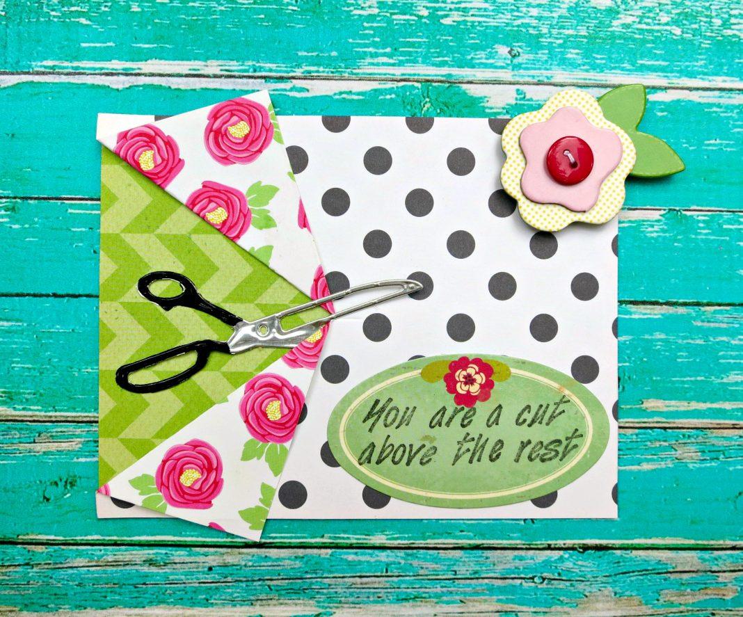 a cut above card