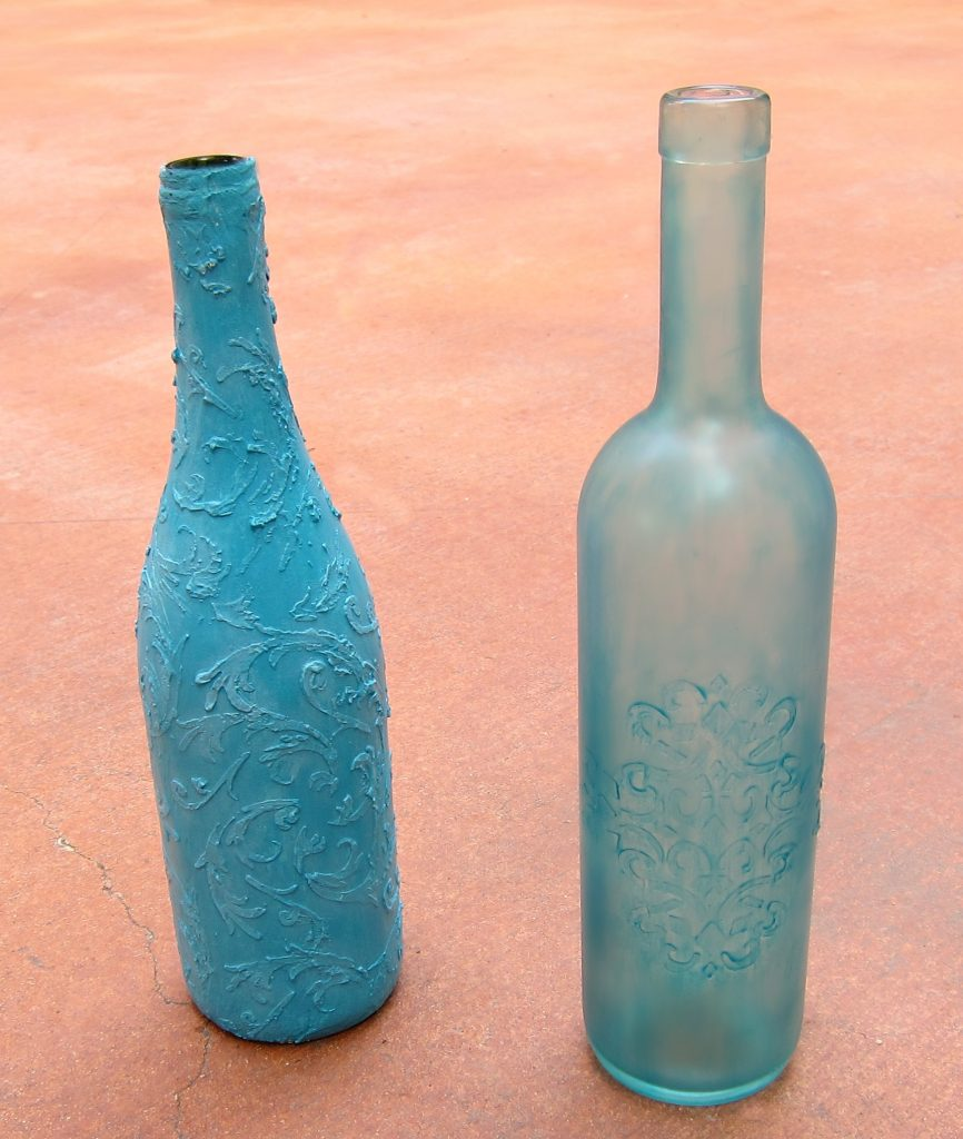 diy faux sea glass bottles morena 39 s corner