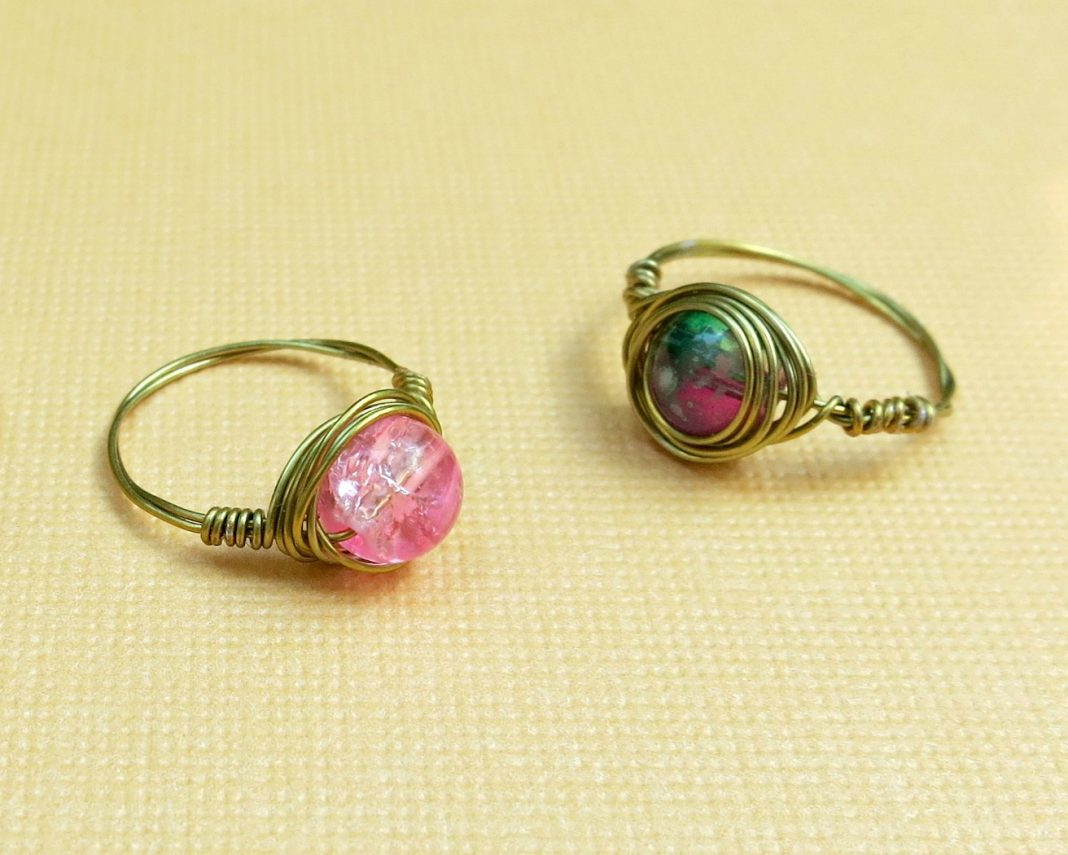 wire rings tutorial how to make wire wrapped bead rings