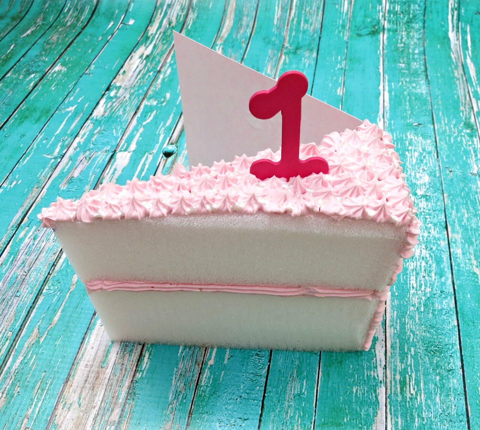 Make A Birthday Card That Looks Like A Cake Slice