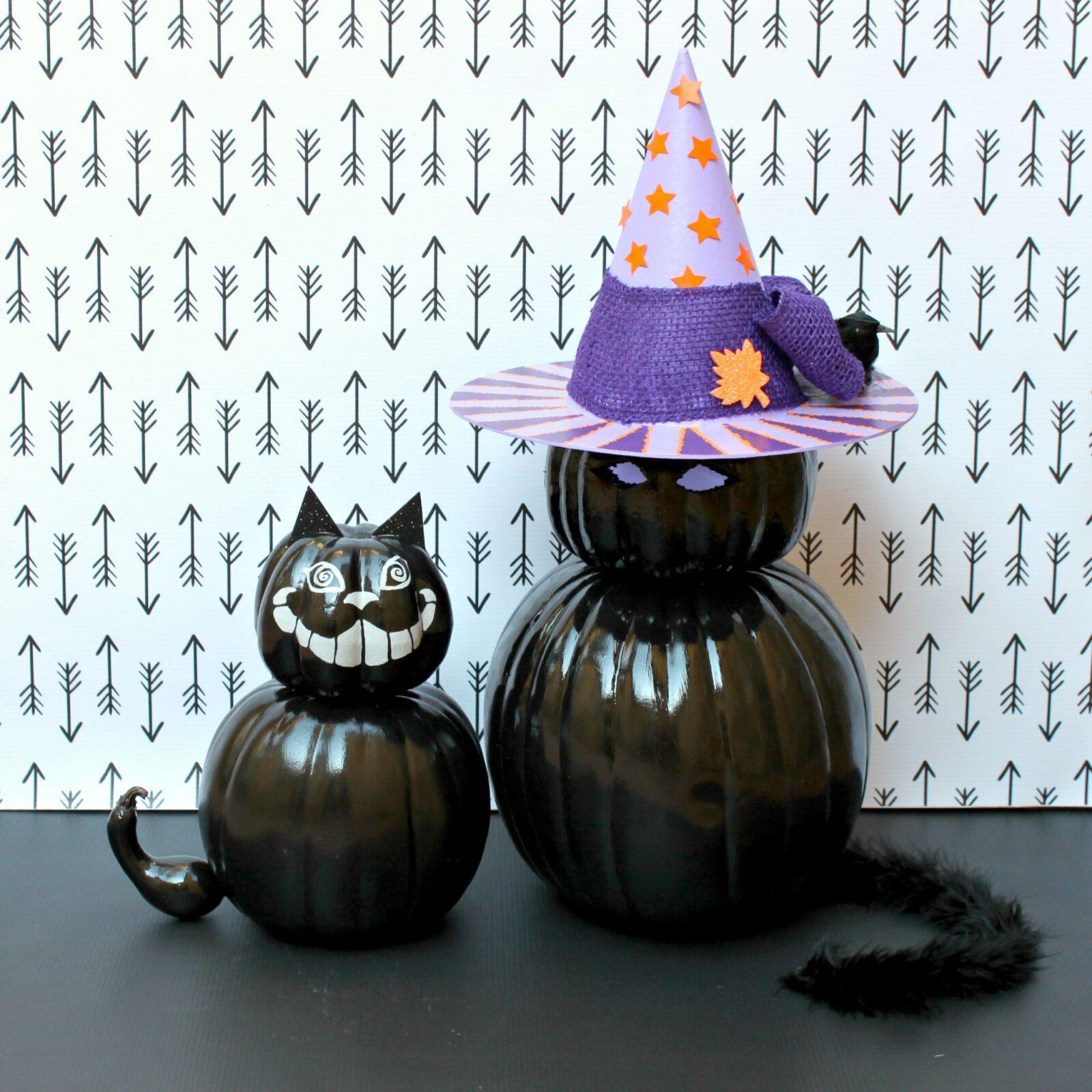 Patriotic Home Decor Ideas Black Cat Decor Made With Pumpkins Morena S Corner