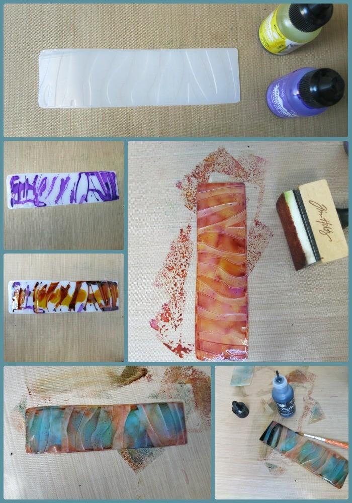 DIY bookmark inking