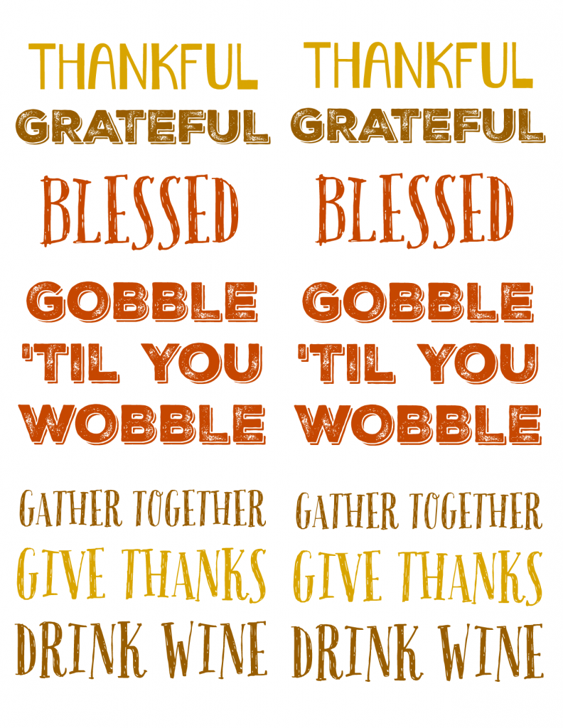 Thanksgiving Labels