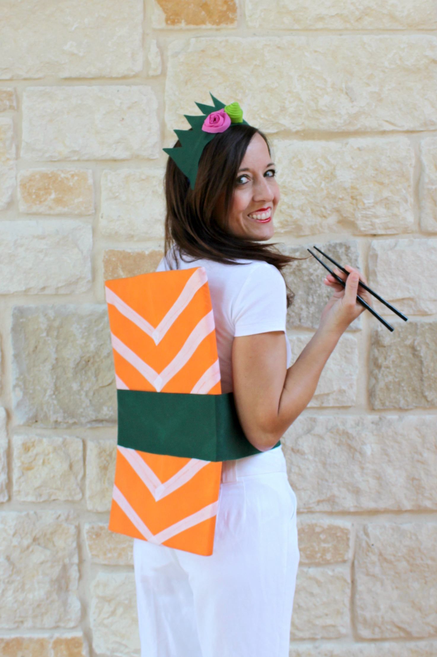 Sushi Roll: Easy DIY Halloween Costume - Morena's Corner