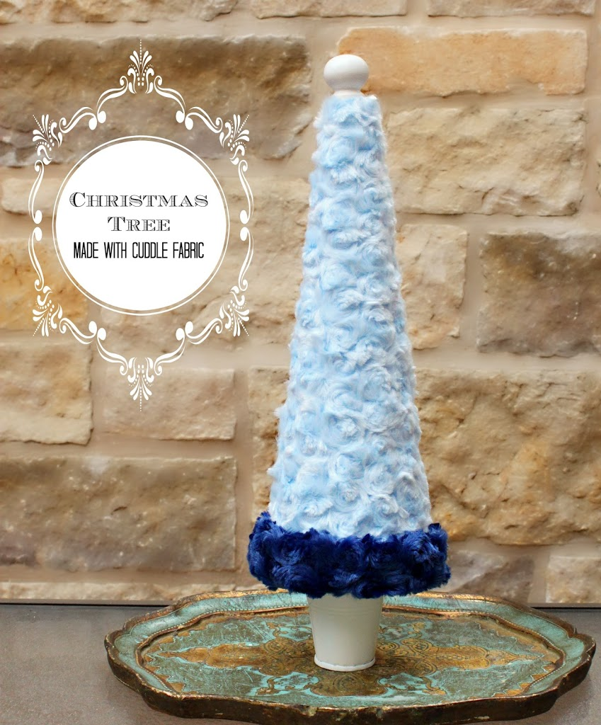 Use cuddle fabric to make beautiful, plush Christmas decor. This cute tree is easy to make!