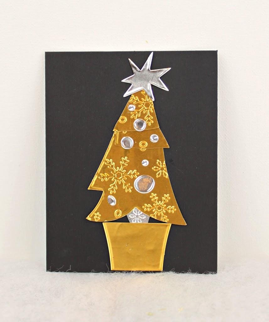Make Metal Christmas Tree Cards Morena S Corner