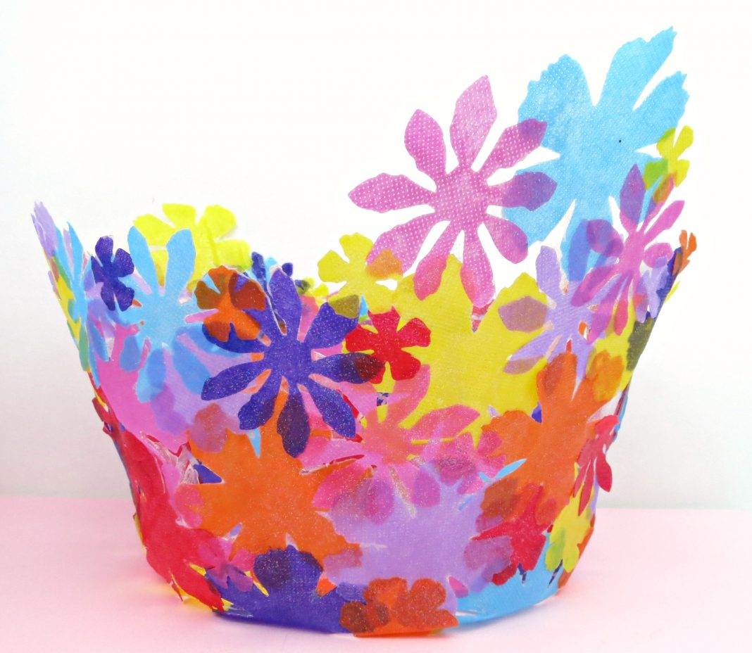 Fabric Flower Bowl