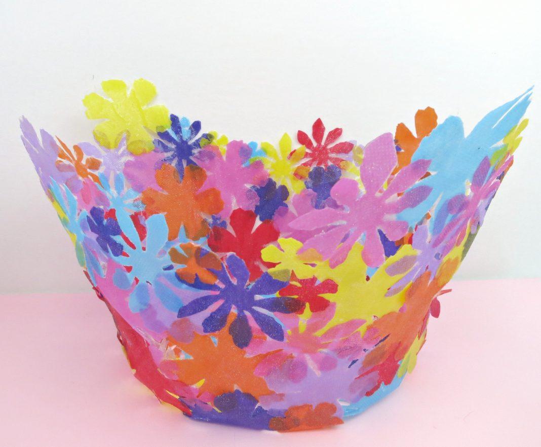 Fabric Flower Bowl