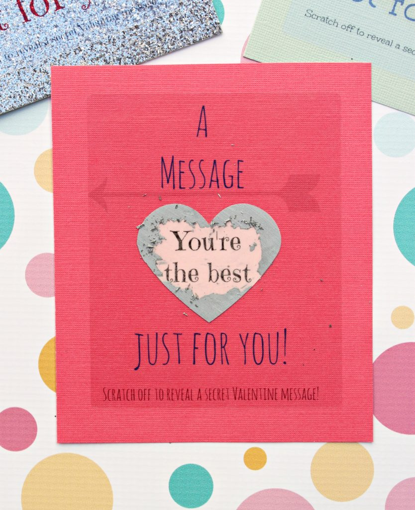 Learn how to make your own scratch off Valentine Cards with free printables!