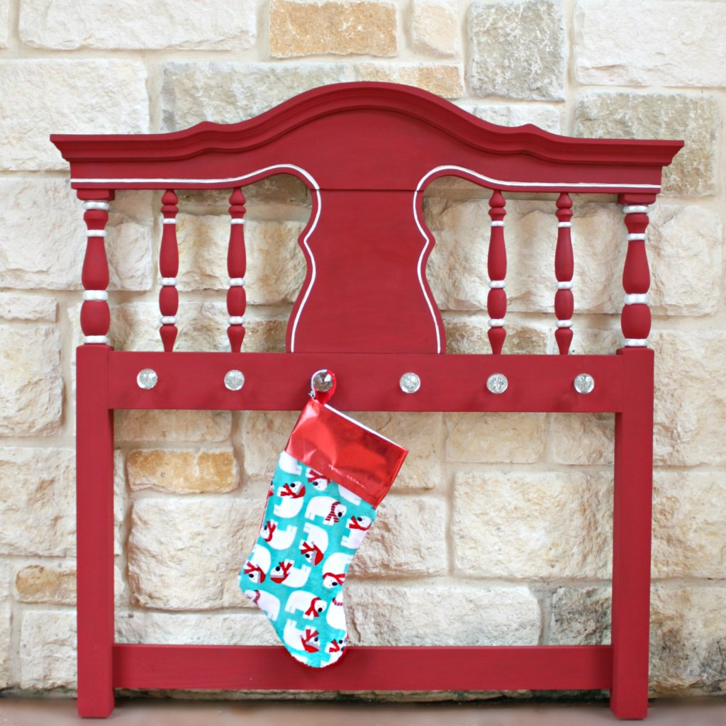 Make a headboard stocking hanger to decorate your home with this Christmas. Create a beautiful, thrifted functional piece of decor.