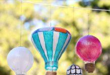light bulb hot air balloons