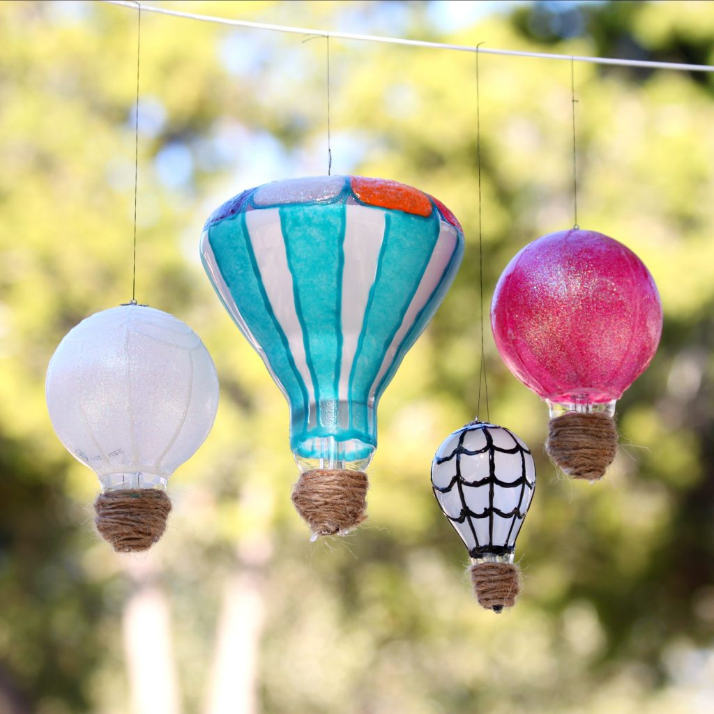 light bulb hot air balloons