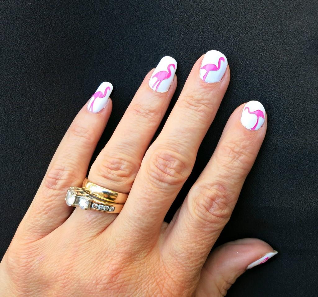 Flamingo Nail Art Tutorial at morenascorner.com