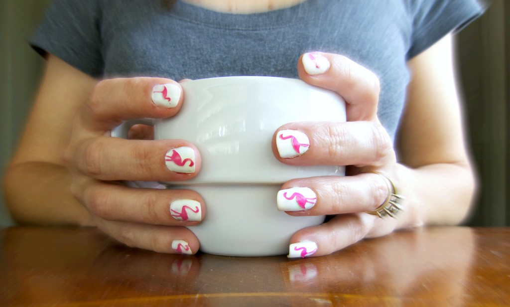 Learn how simple it is to make your own adorable flamingo nail art! No art skills needed, and the tutorial includes a free template to download.