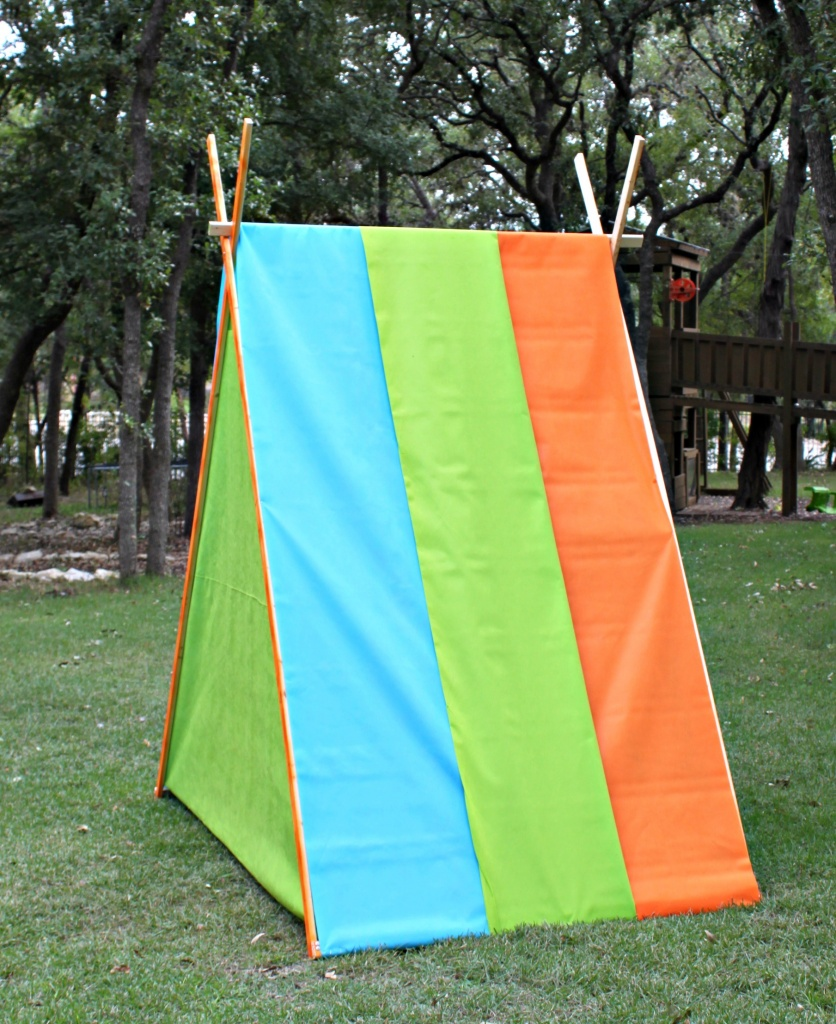 Make this tent DIY for your family to enjoy this summer.