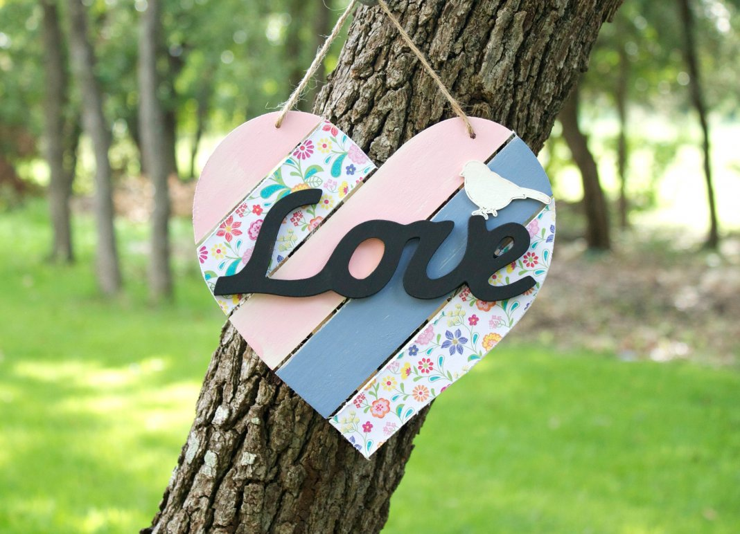 Shabby Chic Heart Home Decor Craft
