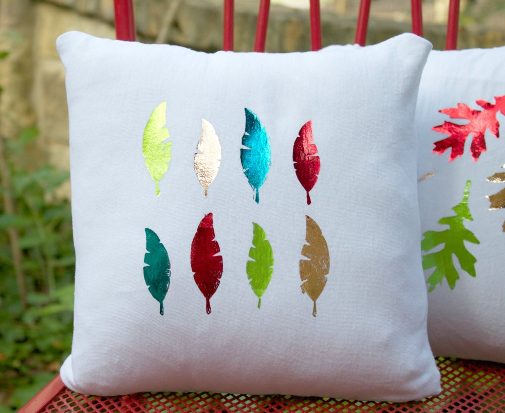Foiled Pillows for Fall: Decor to DIY For