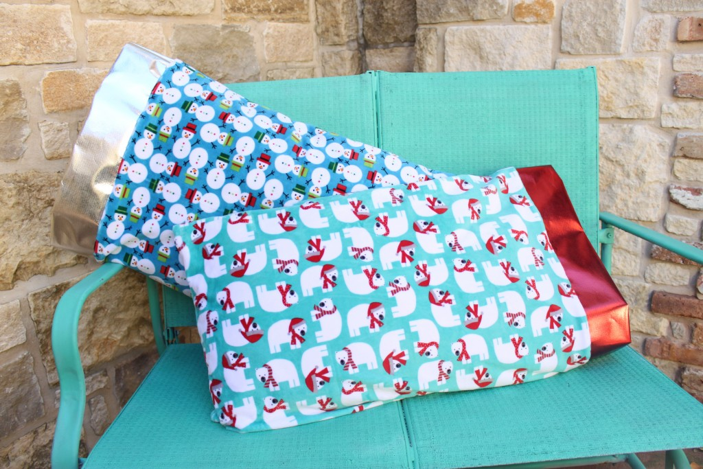 Make a Christmas pillow case from ultra soft cuddle fabric. Your family will love it!