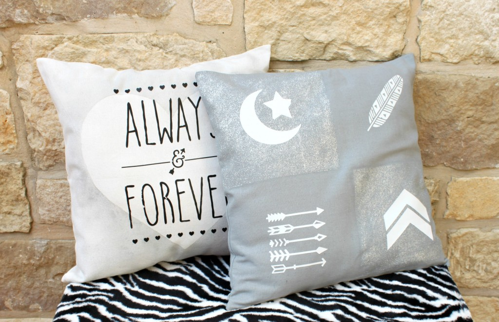 DIY Accent Pillows with Iron on Transfers - Morena s Corner