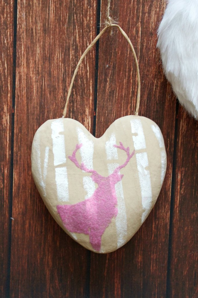 Make deer decor to use to decorate for a wedding shower or for Valentine's day.  This pretty multimedia decorative piece will look great on your walls!